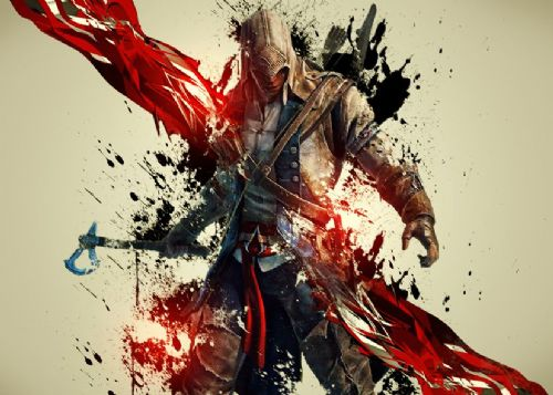 GAMES - ASSASSINS CREED - BEST GRAFFITI STYLE canvas print - self adhesive poster - photo print